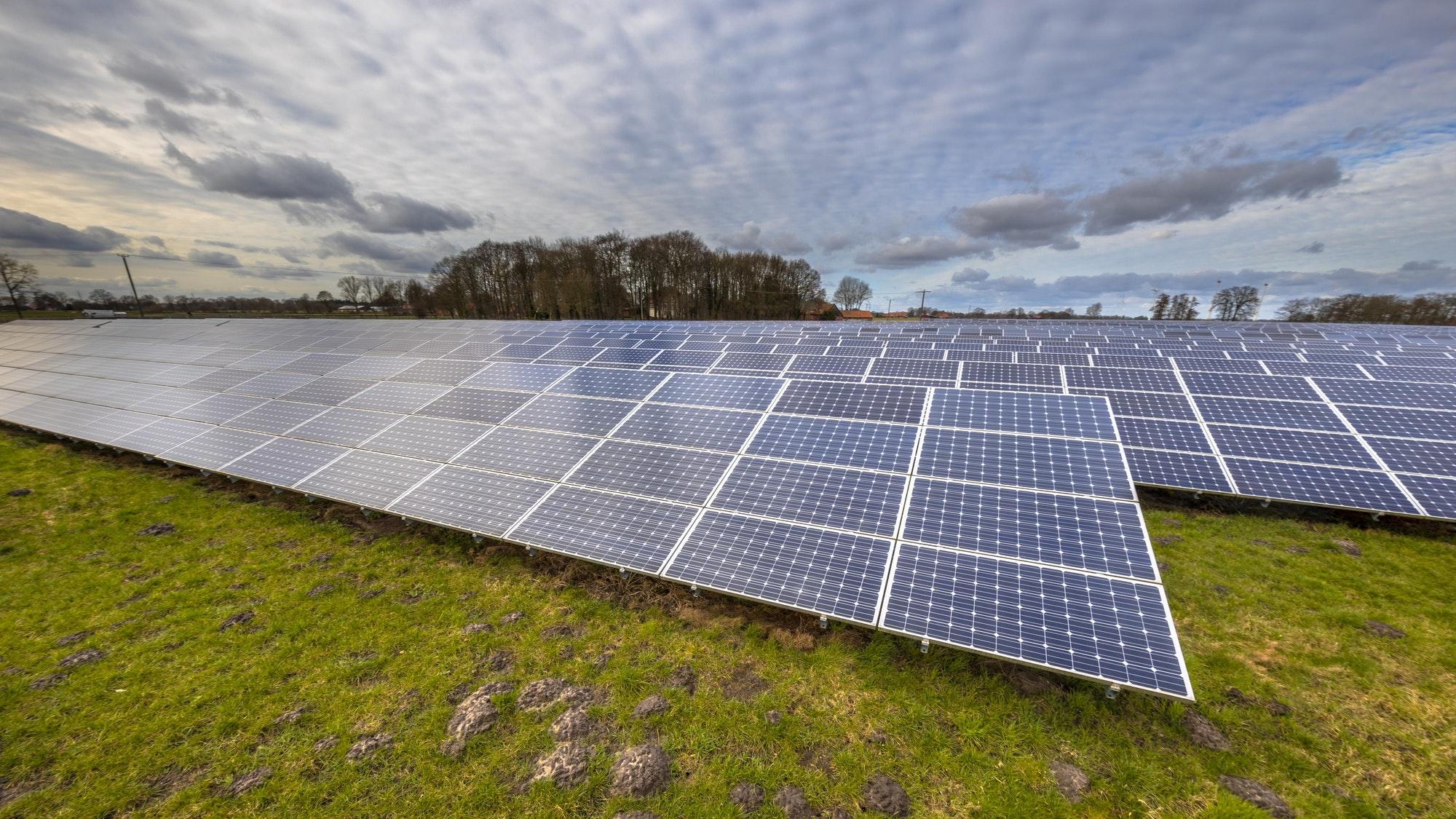 solar energy panels clean energy background